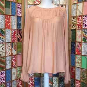{Forever 21} Sheer Blush Blouse | M